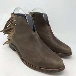 Koolaburra Dallas Fringe Booties Ankle Boots Brown